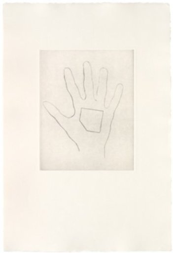 Jonathan MONK - Estampe-Multiple - My Left Hand Holding a Square 4