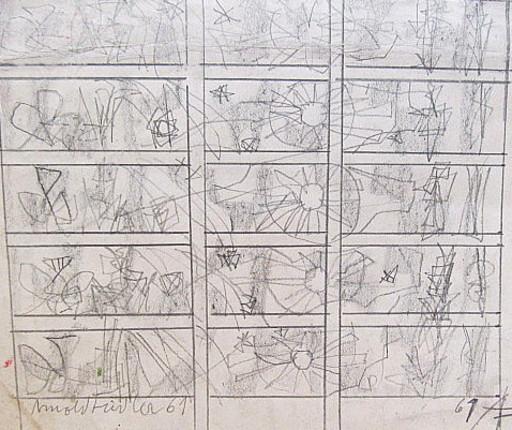 Arnold FIEDLER - Disegno Acquarello - Kreiskompositionen.