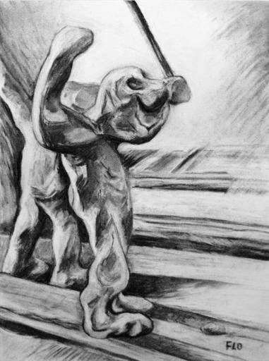 Flo JAOUEN - Drawing-Watercolor - « Il était un petit homme 3 »