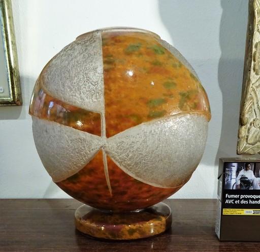 David GUERON DEGUE - vase à décor géométrique