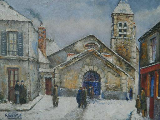 Raymond BESSE - Gemälde - PAYSAGE - VILLAGE