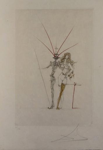 Salvador DALI - Grabado - Poems Secrets Frontispiece