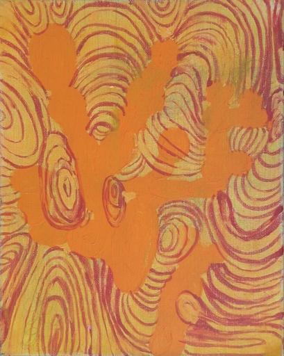 Werner MANNAERS - Pintura - Orange spiral