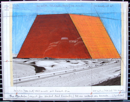 CHRISTO - Dessin-Aquarelle - The Mastaba Project