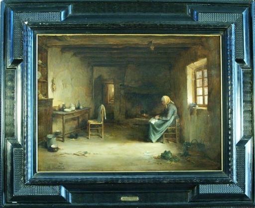 Philippe L. GRONDARD - Gemälde - Servante en retraite
