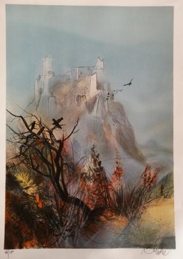 Jean-Baptiste VALADIÉ - Druckgrafik-Multiple - Ruines de Merle