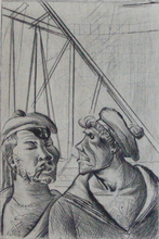 奥托·迪克斯 - 版画 - Technical Personnel   Technisches Personal