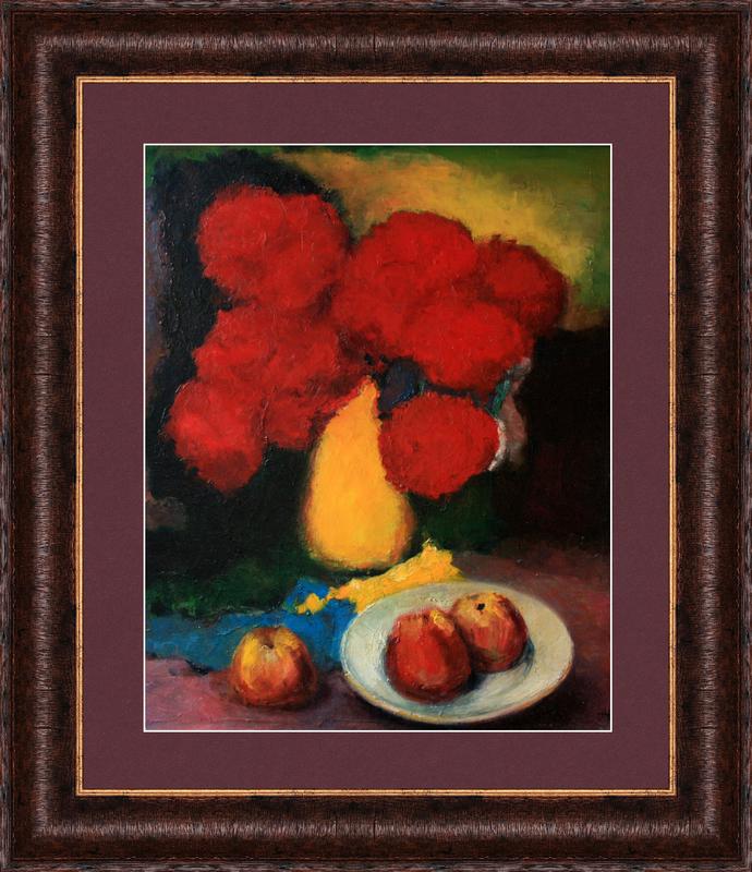 Levan URUSHADZE - Gemälde - Flowers and apples