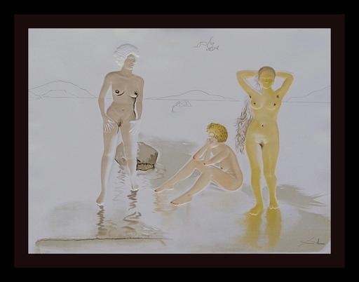Salvador DALI - Grabado - Three Graces of Cova D'or