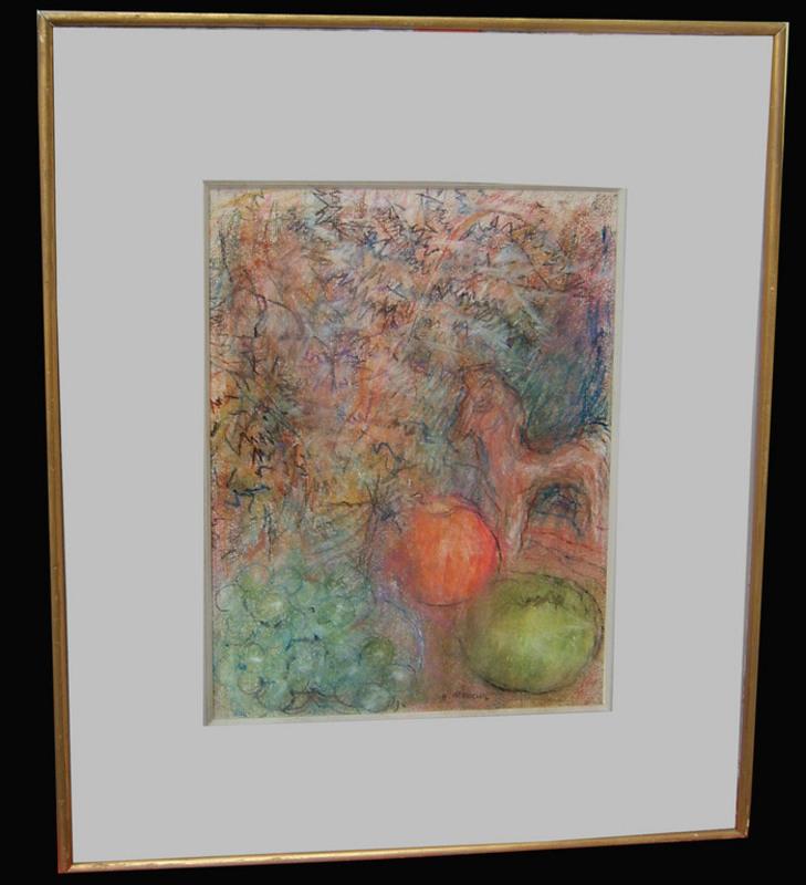 Hélène NEVEUR - Dibujo Acuarela - Les pommes