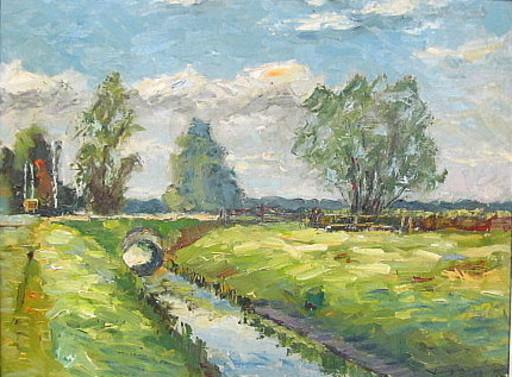 Walter BRÜGGMANN - Painting - Aus Vierlanden  - Neuengamme.
