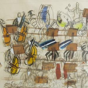Raoul DUFY - Dessin-Aquarelle - Orchestra