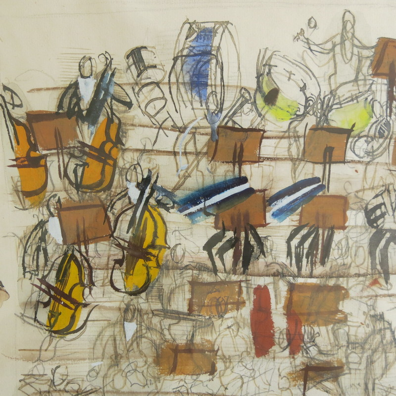 Raoul DUFY - Drawing-Watercolor - Orchestra