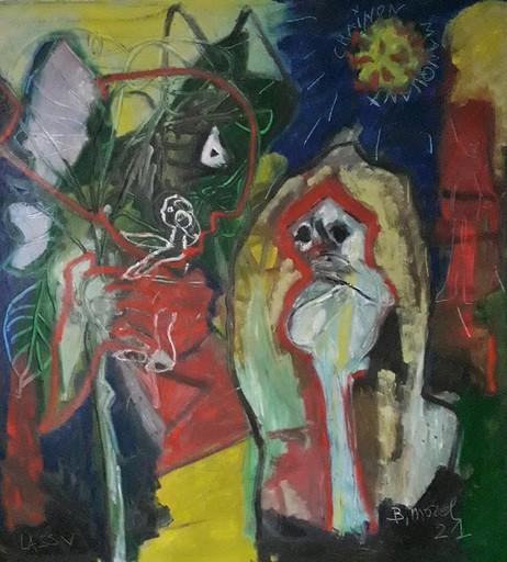 Bernard MOREL - Pintura - LE CHAINON MANQUANT