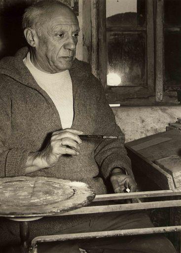 André VILLERS - Photo - Picasso peignant