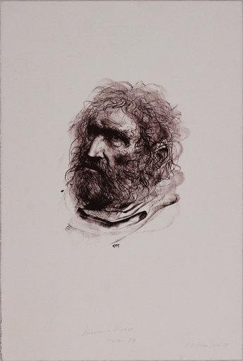 Pietro ANNIGONI - Stampa-Multiplo - Il pescatore