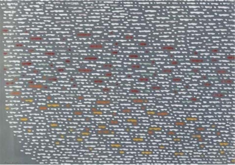 Piero DORAZIO - Pintura - Blue dot sea