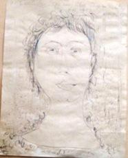 Mikhail LARIONOV - Drawing-Watercolor - Portrait of N. Goncharova