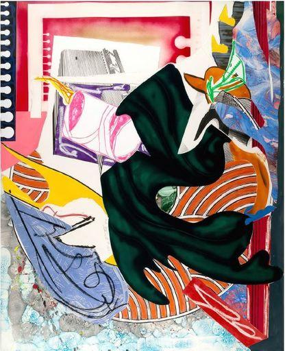 弗兰克•斯特拉 - 水彩作品 - From 'The Waves': Moby Dick, CTP 2