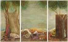 """Elie ABRAHAMI - Zeichnung Aquarell - Clown's Rest """"Triptique"""""""