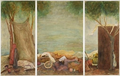 """Elie ABRAHAMI - Disegno Acquarello - Clown's Rest """"Triptique"""""""