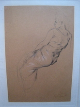 Frantisek KUPKA - Drawing-Watercolor - ETUDE DE FEMME