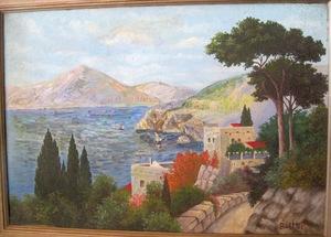 David BURLIUK - Gemälde - Positano