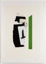 罗伯特•马塞維尔 - 版画 - In White with Green Stripe