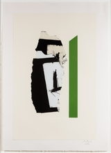 Robert MOTHERWELL - Estampe-Multiple - In White with Green Stripe