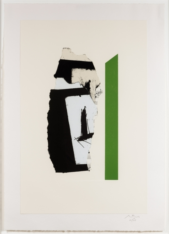 Robert MOTHERWELL - Print-Multiple - In White with Green Stripe