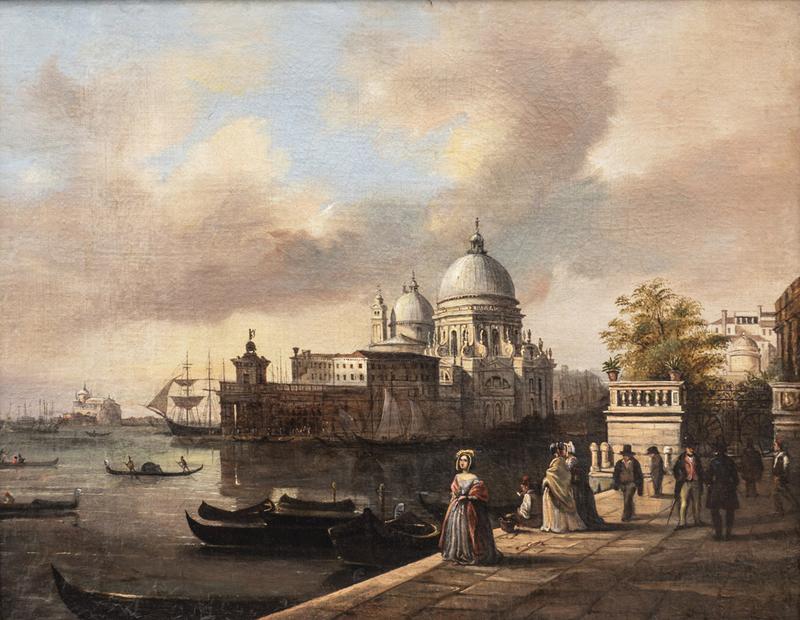 Giuseppe I CANELLA - Peinture - Entrance of the Royal Gardens in Venice