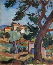 Pierre FAVRE - Pintura - Paysage de La Ciotat