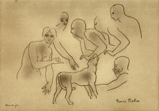 Francis PICABIA - Dibujo Acuarela - la riunione