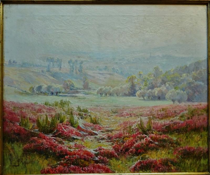 Edouard PAIL - Painting - Rosée sur les bruyères
