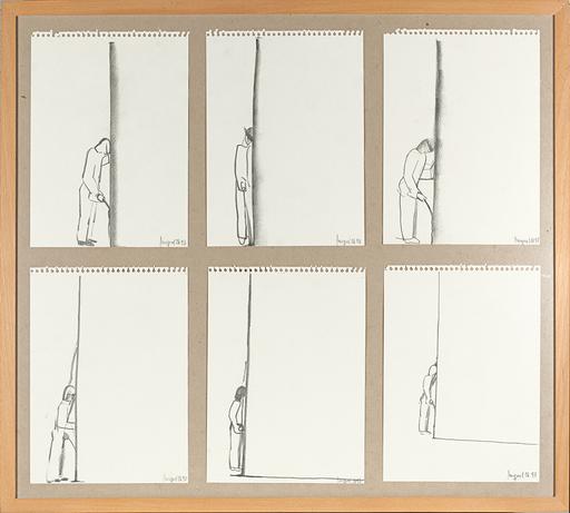 Miquel NAVARRO - Drawing-Watercolor - Mitjanit - Composición de 6