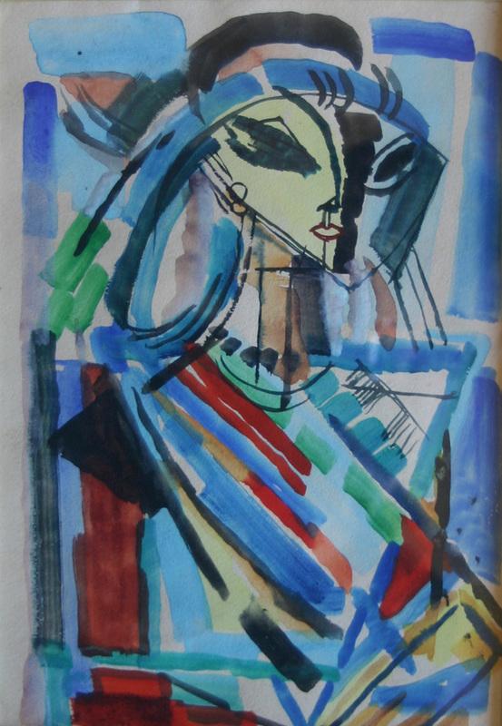 Reynold ARNOULD - Disegno Acquarello - Portrait de Marthe