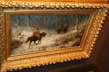 Christian Adolf SCHREYER (1828-1899) - Soldiers Riding Through the Snow