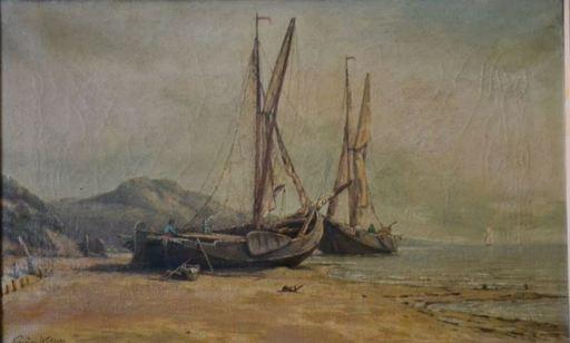 Eugene WOLTERS - Peinture - Marine