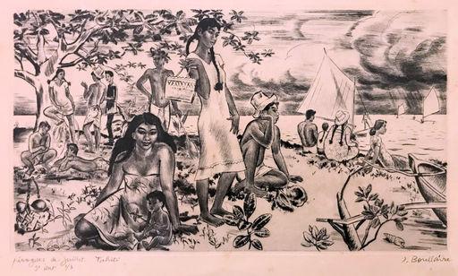 Jacques BOULLAIRE - Print-Multiple - Pirogues de juillet Tahiti