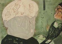 José Luis CUEVAS - Grabado - Macbeth