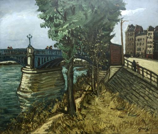 Alphonse QUIZET - Pintura - Ponte a Saint-Denis