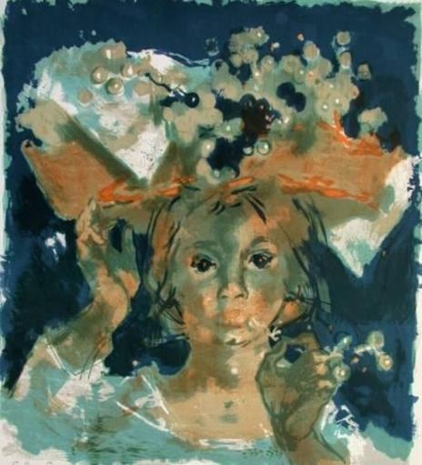 Daniel DU JANERAND - Print-Multiple - Chapeau fleuri
