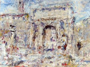 Luigi MANTOVANI - Gemälde - Arco Settimio Severo, Roma
