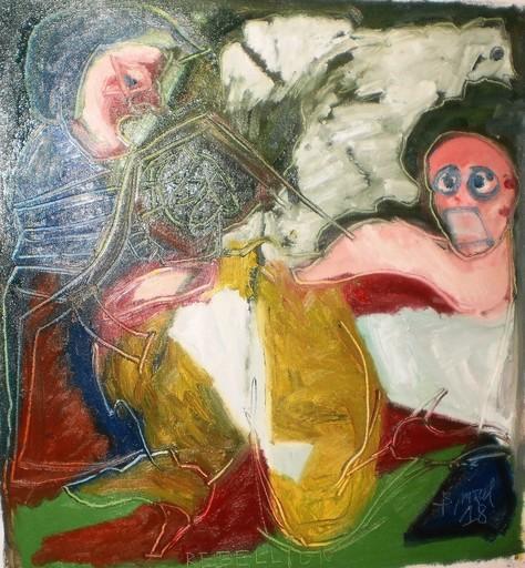 Bernard MOREL - Painting - GILET JAUNE