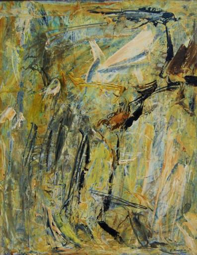 Charles MAUSSION - Pintura - L'oiseau cruel. Composition abstraite