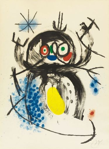 Joan MIRO - Estampe-Multiple - L'automobiliste à moustache