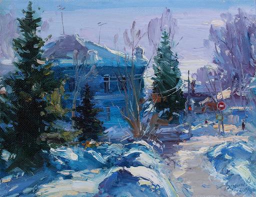 Yuriy DEMIYANOV - Gemälde - neige pétillante