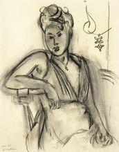 亨利·马蒂斯 - 水彩作品 - Femme assise (Michaela)
