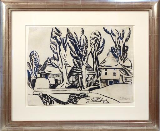 Jan MATULKA - Drawing-Watercolor - Slovakian Village