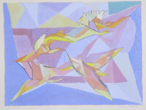 Jacques VILLON - Grabado - Birds